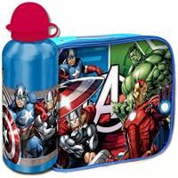 Avengers - Sac Repas Isotherme + Gourde en Aluminium Enfant