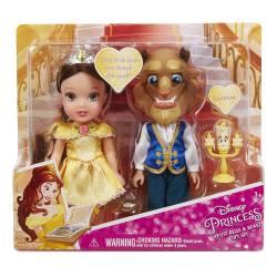 Disney Princesse - Set Poupées la Belle et la Bête - 15 cm