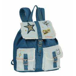 Chipie - Petit Sac Borne Souple Stone Washed Denim Maternelle