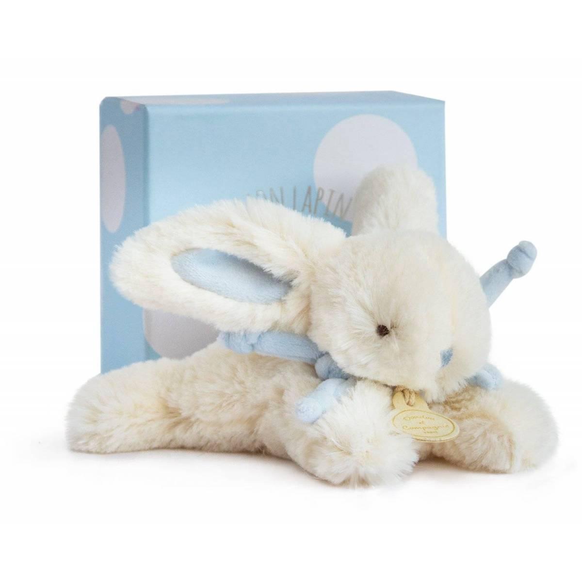 Doudou et Compagnie - Lapin Bonbon Bleu - 16 cm