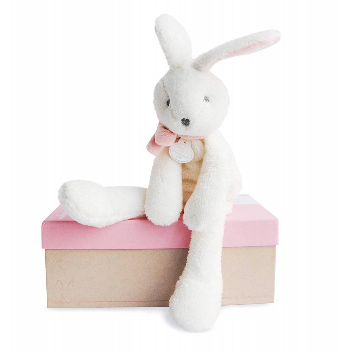 Doudou et Compagnie - J'aime mon Doudou - Lapin Rose - 30 cm