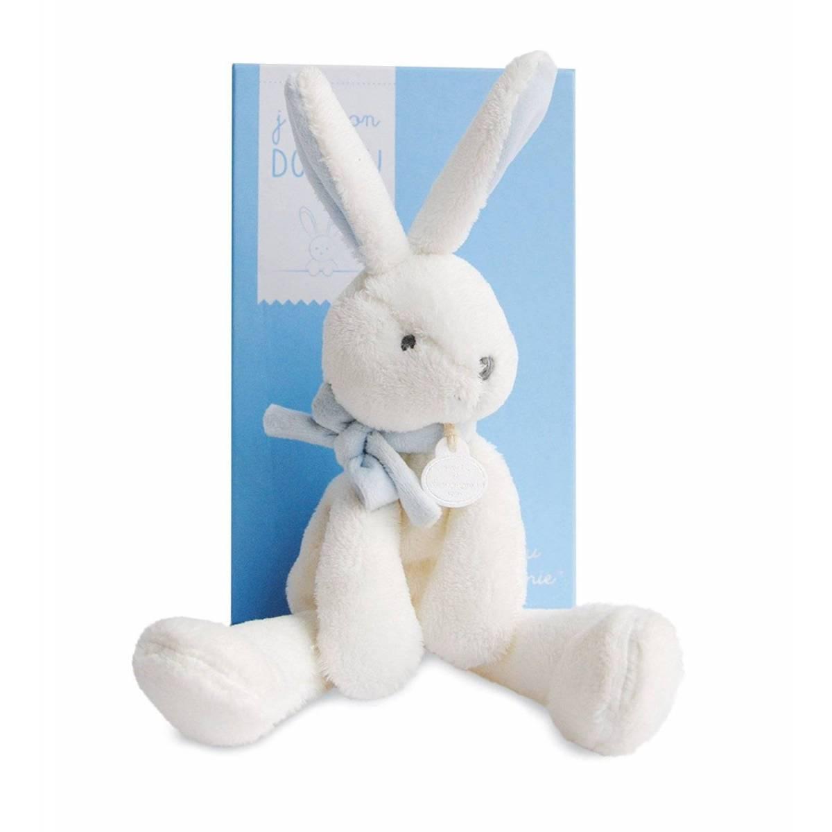 Doudou et Compagnie - J'aime mon Doudou - Lapin Bleu 30 cm