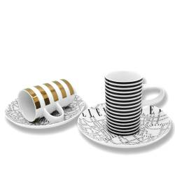 ELLE - Set de 2 Tasses Expresso Plan de Paris