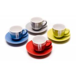 Vespa - Set de 4 Tasses à Café + Soucoupes