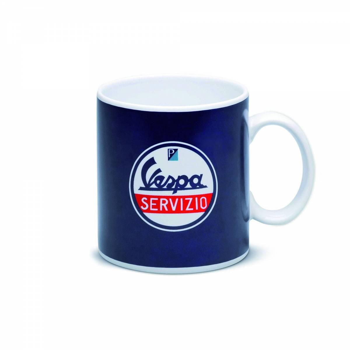 Vespa - Mug en Céramique Servizio - Bleu