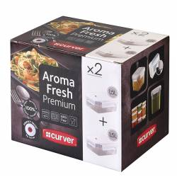 Curver - Aroma Fresh Premium - Lot de 2 Boîtes Rectangulaire - 1.5 L