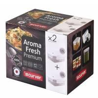 Curver - Aroma Fresh Prenium - Lot de 2 Boîtes Rectangulaire - 1.5 L