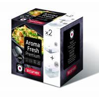 Curver - Aroma Fresh Premium - Lot de 2 Boîtes Rectangulaire - 1.1 L et 2.4 L
