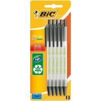 BIC - Lot de 5 Stylo Bille Rétractable - Clic Stic