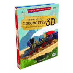 SASSI - Construis la Locomotive 3D - Livre + Maquette 3D