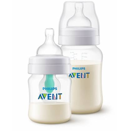 Philips Avent - Lot de 2 Biberons Anti-Colique Air Free - 125 ml + 260 ml