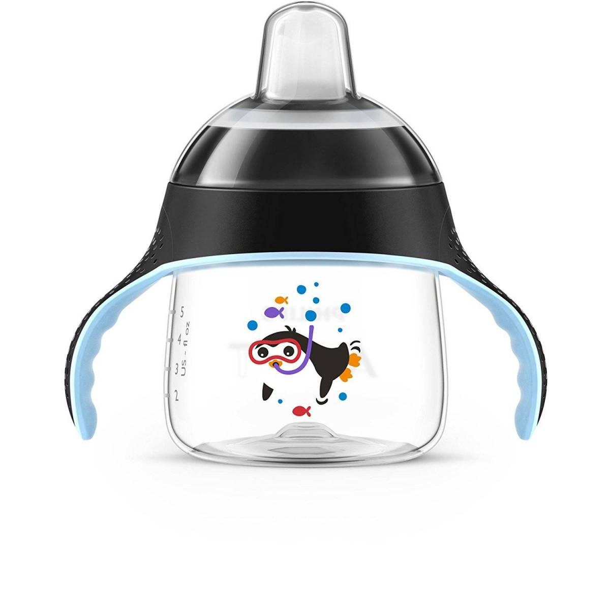 Philips Avent - Tasse à Bec Noir Pingouin - 200 ml - 6 mois +