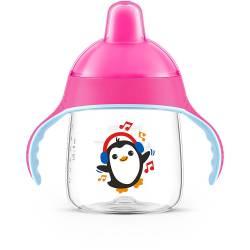 Philips Avent - Tasse à Bec Rose Pingouin - 260 ml - 12 mois +