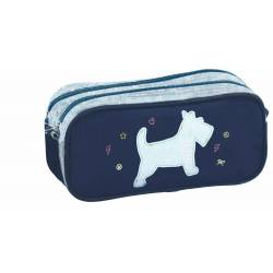 Chipie - Trousse Double Compartiment Emessa - Bleu