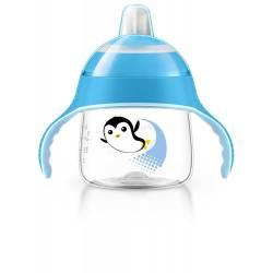 Philips Avent Tasse bec anti-fuites Pingouin - bleu - 200 ml