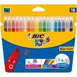 BIC KIDS - Etui de 18 Feutres de Coloriage KID Couleur
