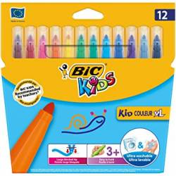 BIC KIDS - Etui de 12 Feutres de Coloriage Kid Couleur XL