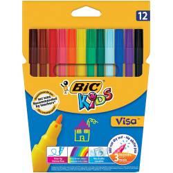 BIC KIDS - Etui de 12 Feutres de Coloriage Visa
