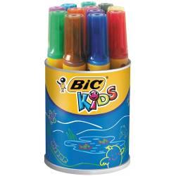 BIC KIDS - Pot de 12 Feutres de Coloriage Décoralo