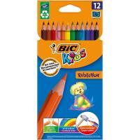 BIC KIDS -Etui de 12 Crayons de Couleurs Evolution