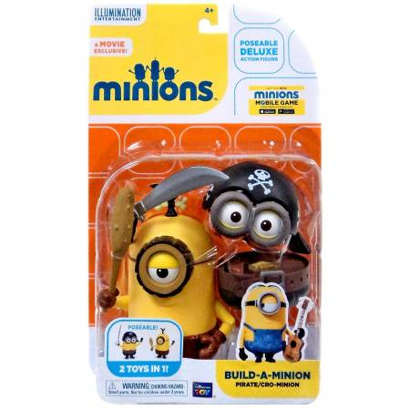 Figurine Minions 15 cm Pirate et Cro-Minion