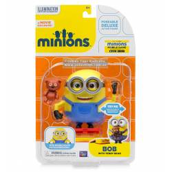 Les Minions - Figurine 15 cm - With Teddy Bear