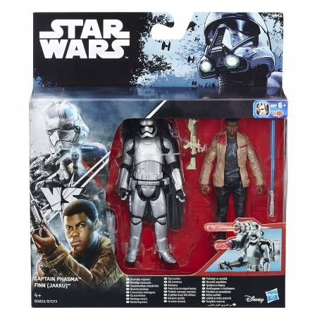 Star Wars - Pack de 2 Figurines - Captain Phasma et Finn