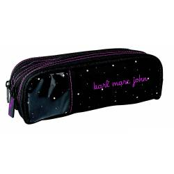 Little Karl Marc John - Trousse Double Compartiment Hirondelles - Noir