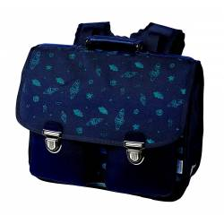 Cartable Oberthur Boy 38 cm Bleu Imprimé 2 compartiments