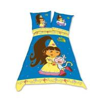 Dora l'exploratrice Princesse - Parure housse de couette 140 x 200 + taie 65 x 65 cm