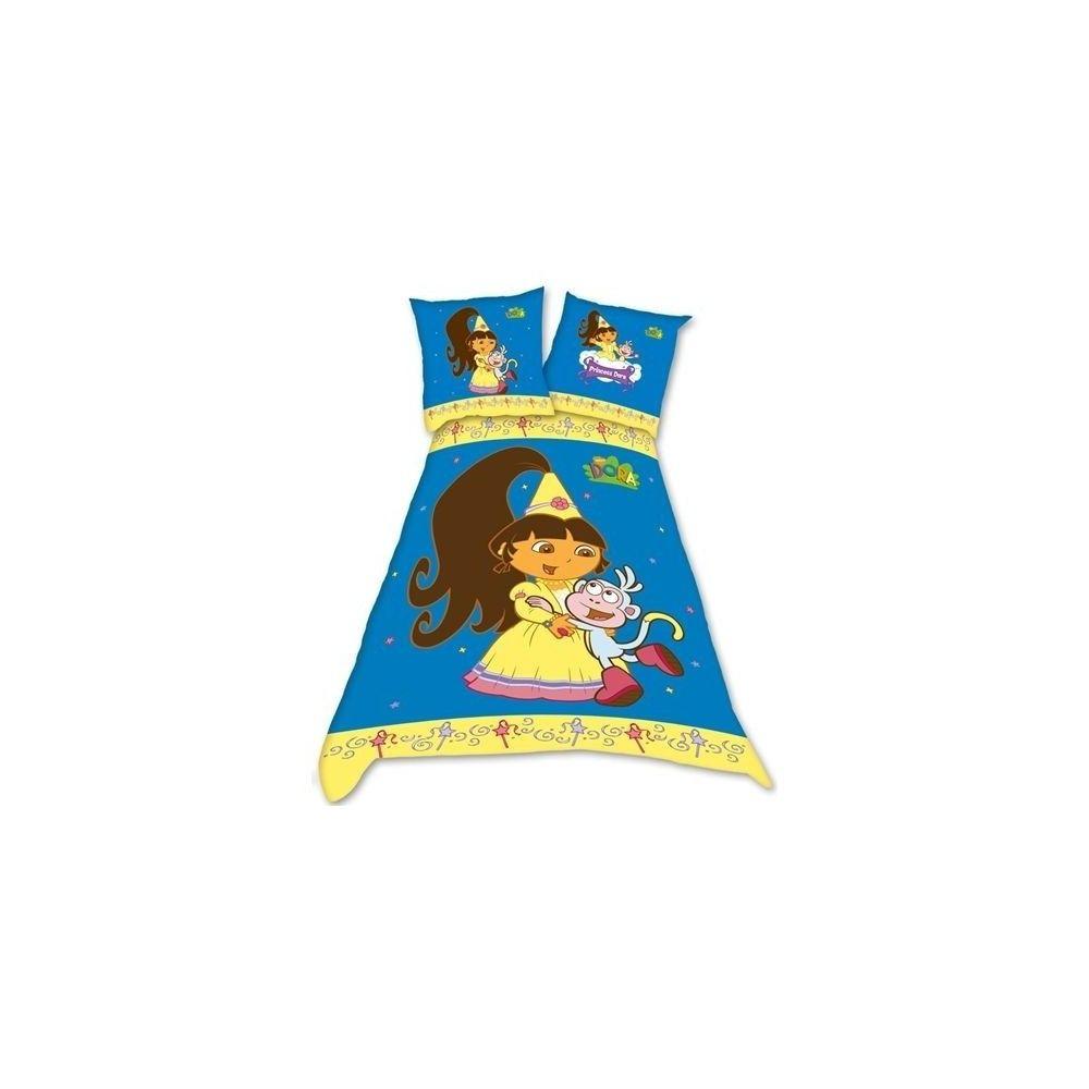 Parure housse de couette dora princesse 140 x 200 pas cher for Housse couette princesse