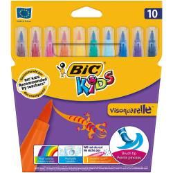 BIC KIDS - Etui de 10 Feutres de Coloriage Visquarelle