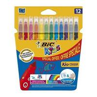 BIC KIDS - Etui de 12 Feutres de Coloriages KID Couleur