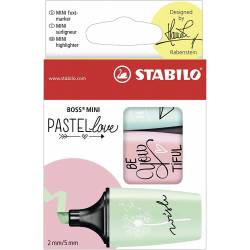 STABILO BOSS MINI - Lot de 3 Mini Surligneurs - Pastel Love - 07/03-57