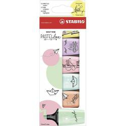 STABILO BOSS MINI - Lot de 6 Mini Surligneurs - Pastel Love