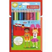 STABILO COLOR - Etui de 18 Crayons de Couleur Vives
