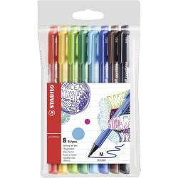 STABILO POINTMAX - Case of 8 Medium Point Marker Pens - Assorted