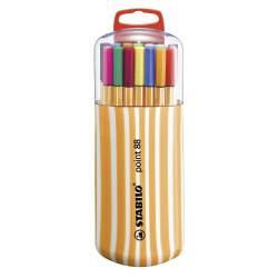 STABILO POINT 88 - Etui de 20 Stylos-Feutres Pointe Fine - Assortis