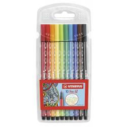 STABILO PEN 68 - Box of 10 Medium Point Markers - Assorted