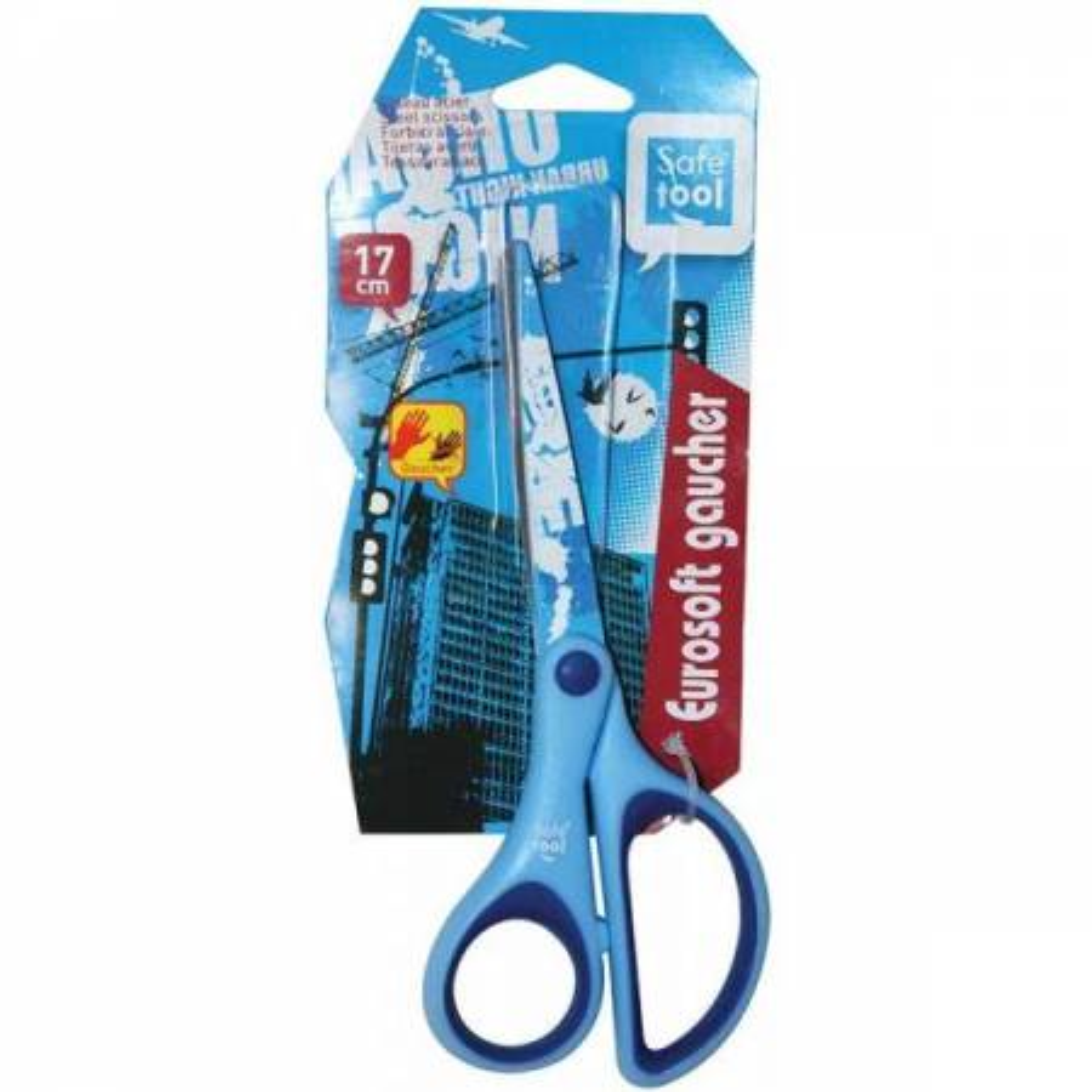 Safe Tool - Ciseaux Acier Eurosoft Gaucher 17 cm - 2 Coloris