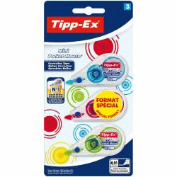 BIC - Lot de 3 Correcteurs Tipp-Ex Mini Pocket Mouse Fashion