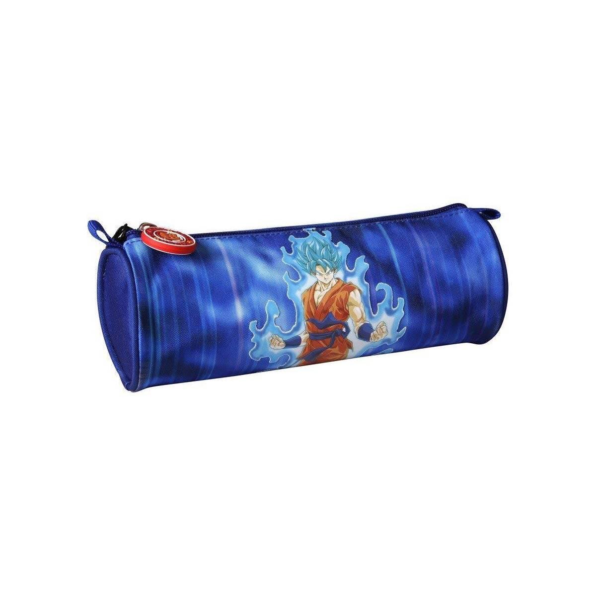 Dragon Ball - Trousse Ronde Goku Bleu - 7 x 22 cm