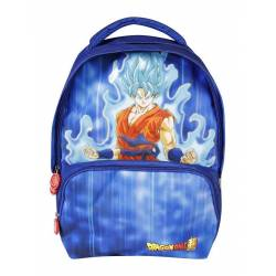 Dragon Ball Super - Sac à Dos 2 Compartiments Goku Bleu - 40 cm