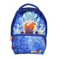 Dragon Ball - Sac à Dos 2 Compartiments Goku Bleu - 40 cm
