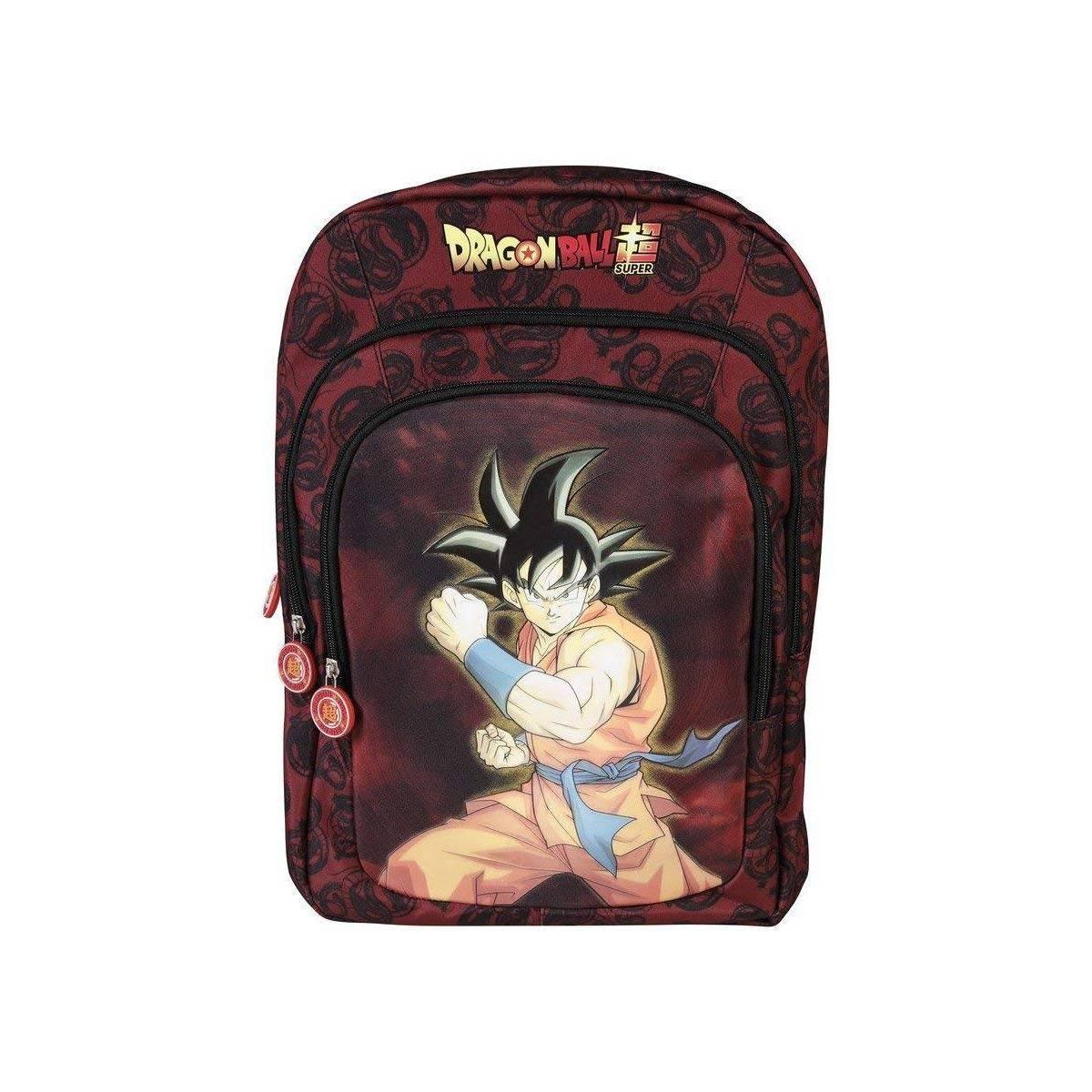 Dragon Ball Super - Sac à Dos 3 Compartiments Goku Noir - 44 cm