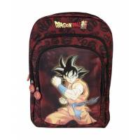 Sac à Dos Dragon Ball Super 3 Compartiments Goku Noir - 44 cm