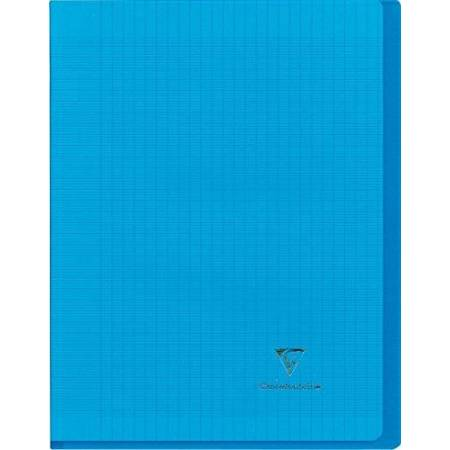 Clairefontaine - Cahier Koverbook Piqué Polypro Transparent - Grand Carreaux - 96 Pages -21 x 29.7 cm