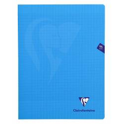 Clairefontaine - Cahier Mimesys Piqué Polypro Transparent - Grands Carreaux - 96 Pages - 24 x 32 cm