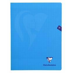 Clairefontaine - Cahier Mimesys Piqué Polypro Transparent - Grands Carreaux - 96 Pages - 24 x 32 cm