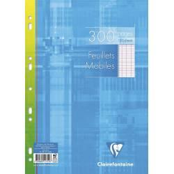 Clairefontaine - Paquet de 300 Feuillets Mobiles Perforés sous Film - 21 x 29.7 cm